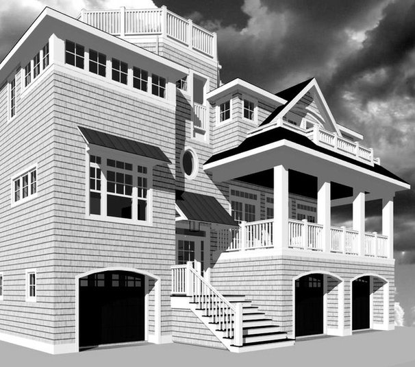 Traditional Rendering by LOMER & MEGGITT ARCHITECTS