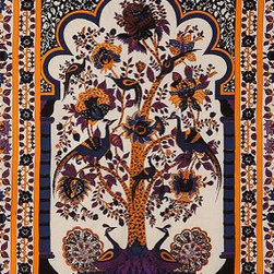 Tree of Life Tapestry - This Tree of Life Tapestry is a story in itself. It would add so much interest to a room as a wall hanging or even as a bed covering.