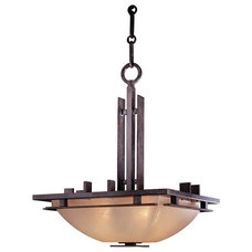 "Modern Chandeliers Arts and Crafts - Mission Lineage Collection 15 1/2"" Wide Pendant Chandelier"