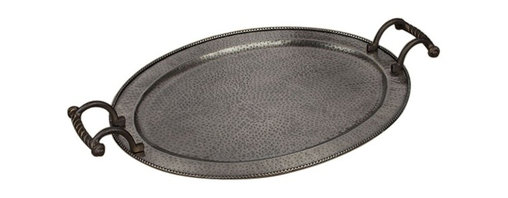 GG Collection - The GG Collection Large Oval Tray, Antique Copper - The GG Collection Large Oval Tray Antique Copper