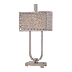 Quoizel - Quoizel CKCF6330OS Confetti 2 Light Table Lamps in Old Silver - This 2 light Table Lamp from the Confetti collection by Quoizel will enhance your home with a perfect mix of form and function. The features include a Old Silver finish applied by experts. This item qualifies for free shipping!