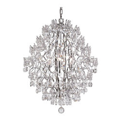 Trans Globe Lighting - Trans Globe HH-6 SL Chandelier - Silver - 24.5W in. - HH-6 SL - Shop for Chandeliers from Hayneedle.com! Reminiscent of a piece of classic art with a contemporary twist the Transglobe HH-6 SL Chandelier - Silver - 24.5W in. makes the perfect addition to your entryway or dining space. The open-frame fixture with multi-directional lights is jazzed up by beaded crystals which coordinate with the beautiful silver finish to ensure this chandelier works well in both formal and casual settings. The crystals reflect the light emitted by six 40-watt G9 base bulbs (not included) adding ambience without compromising on function.About Trans Globe Lighting Inc.Born from the hopes and dreams of two entrepeneurial spirits in 1986 Trans Globe Lighting offers one of the most comprehensive and stylish collections of residential lighting in the world. This family-owned company based in North Hollywood Calif. is marked by personal involvement with a wide variety of products available at the lowest prices. From traditional to ultra-contemporary in style Trans Globe has just the right light for you.