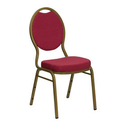 Flash Furniture - Flash Furniture Banquet Stack Chairs Banquet Stack Chairs - This is one tough chair that will withstand the rigors of time. With a frame that will hold in excess of 500 lbs., the HERCULES Series Banquet Chair is one of the strongest banquet chairs on the market. You can make use of banquet chairs for many kinds of occasions. This banquet chair can be used in Church, Banquet Halls, Wedding Ceremonies, Training Rooms, Conference Meetings, Hotels, Conventions, Schools and any other gathering for practical seating arrangements. The banquet chair is also great for home usage from small to large gatherings. For any environment that you use a banquet chair it will put your guests at a greater comfort level with the padded seat and back. Another advantage is the stacking capability that allows you to move the chairs out of the way when not in use. With offerings of comfort and durability, you can be assured that you can enjoy this elegant stacking banquet chair for years to come. [FD-C04-ALLGOLD-2804-GG]