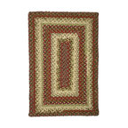 Homespice Decor - Homespice Decor Spice Market Braided Rug Multicolor - 453273 - Shop for Rugs and Runners from Hayneedle.com! The Homespice Decor Spice Market Braided Rug has roasted red pepper soft green olives golden brown honey and just a touch of cream. This braided rug is a delicious blend of colors that will enhance any room in your home. These 100% cotton flat braided rugs lend color warmth and a cozy feel to any home. Made in India.Sizes offered in this rug:Following are all sizes for this rug. Please note that some may be currently unavailable due to inventory. Also please note that rug sizes may vary by up to 4 inches in dimensions listed.Dimensions:2 x 3 ft.2.3 x 4 ft.3 x 5 ft.4 x 6 ft.5 x 8 ft.6 x 9 ft.2.6. x 6 ft. Rectangle Runner2.6 x 9 ft. Rectangle Runner3 ft. Square6 ft. Square2 x 3 ft. Oval2.3 x 4 ft. Oval3 x 5 ft. Oval4 x 6 ft. Oval5 x 8 ft. Oval6 x 9 ft. Oval8 x 10 ft. Oval2.6. x 6 ft. Oval Runner2.6 x 9 ft. Oval Runner3 ft. Round6 ft. Round7.6 ft. RoundAbout Homespice Decor RugsProducing quality homemade products since 1998 Homespice Decor has become an industry leader in braided rugs (outdoor indoor wool and cotton) and has expanded its line to include penny rugs rag rugs and its newest - Supernova rugs - which feature a swirling star braid design. Formerly known as J Quilts Company Homespice Decor shifted its focus from quilts to rugs pouring itself into the intricate details of braided rug craftsmanship. Homespice Decor is committed to providing affordable braided rugs of the highest quality in an abundance of sizes and styles.
