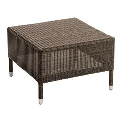 "Lamps Plus - Coastal Osiris Collection Square Wicker Outdoor Side Table - Add some comfort to your outdoor seating with this handsome wicker top side table. The design is part of the Osiris furniture collection and features a sturdy aluminum frame and all-weather Viro wicker. The square table design comes with a wicker top. 23"" wide. 23"" deep. 16"" high.  Osiris Collection square side table.  Perfect for pool areas or porches.  Aluminum frame.  All-weather Viro wicker.  Some assembly required.  23"" wide.   23"" deep.   16"" high."