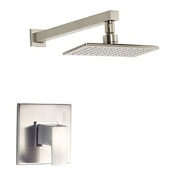 """Danze - Danze Mid-Town Trim Only Single Handle Pressure Balance Shower Faucet - Brushed - Features All brass 12 3/4"""" showerarm Features Mono Chic 5"""" x 8' showerhead D460059 Valve not included, must order separately View Spec Sheet"""