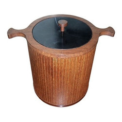 Skjode Skjern Teak Ice Bucket & Tongs - Peggy! Ice! Oh, right, again with the not being a secretary bit. Look, could you please just fill this wooden ice bucket? It even has nice handles so it'll be easy to carry.