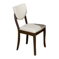 Jofran - Jofran 433-406KD Satin Walnut Shield Back Faux Leather Dining Chair (Set of 2) - Combining traditional details with modern designs, Jofran has a collection to compliment any home decor. This Satin walnut Shield back stool belongs to 433 Series - walnut collection by Jofran Inc. The classic formulas of color combinations are not valid in Jofran Furniture territory: here is ruled by laws solely of your own preferences and fantasies. Huge selection of colors in combination with a wide choice of shapes and sizes allow you to find among this variety precisely the furniture you've always wanted to see in your home. Jofran Furniture offers high quality, casual furniture pieces that are constructed from premium Asian hardwoods, and finished with beautiful veneers. Durable materials and quality assembly will help your furniture to serve for many years and will not let you be disappointed in your choice.