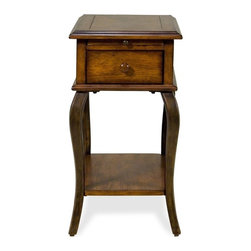 Riverside Furniture - Serena Chairside Table in Brown Sugar Finish - Traditional style