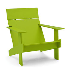 Loll Designs - Lollygagger Lounge, Leaf Green - Sometimes there's nothing wrong with letting the day get away from you. Grab a book and glide back into this breezy lounge chair. Its angled design nestles you in comfort, confirming that you're doing exactly the right thing.