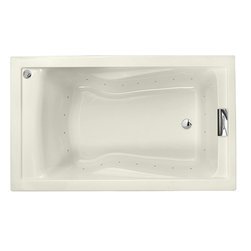 "American Standard - American Standard 2771.V068C.222 Evolution 5 x 36 Deep Soak Air Bath, Linen - American Standard 2771.V068C.222 Evolution 5 X 36 Deep Soak Everclean Air Bath,  Linen. This deep soak airbath tub features an acrylic construction with fiberglass reinforcement, dual molded-in armrests, a pre-leveled tub bottom, an undermount option, an EverClean system that inhibits the growth of bacteria, mold, and mildew, air jets that fully surround the bathing well, a variable speed air blower with heater, and an automatic purge with timer. It measures 60"" by 36"" by 21-1/2""."