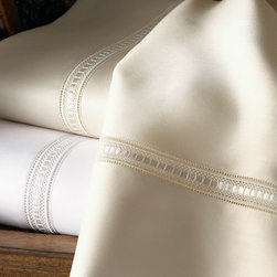 SFERRA - California King Fitted Sheet - IVORY - SFERRACalifornia King Fitted Sheet