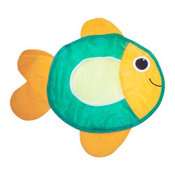 Sassy Fill Up Fish Toy Organizer - This fish toy organizer makes bath time fun for little ones. Store toys inside the quick-dry, roomy fish and attach it to the wall with its three suction cups.