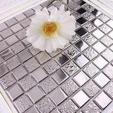 Modern Tile by ITB Mosaics--not only sell mosaics but ideas !