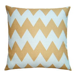 Sea Blue Chevron Pillow