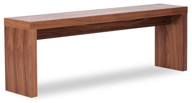 Modern Benches Caroline Walnut Seating Bench (Small)