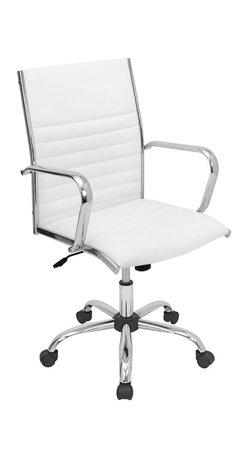 "Lumisource - Master Office Chair, White - 21.75"" L x 23"" W x 37.75 - 41.5"" H"