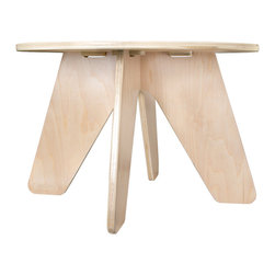 Sodura - Sodura Aero Kids Table - A fun little table with a round top, that makes a great snack or activity table. The Aero Kids Table has all wood construction which makes for a long lasting piece of furniture, and the water based finishes are safe and non-toxic, and eco-friendly. Not to mention that no-formaldehyde glues were used to keep fumes out, and the air clean. The table is easy to assemble by just 8 screws on the bottom side of the table top.