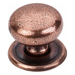 Top Knobs - Top Knobs: Victoria Knob 1 1/4 Inch W/Backplate - Old English Copper - Top Knobs: Victoria Knob 1 1/4 Inch W/Backplate - Old English Copper