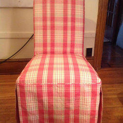 Slipcovers - Front with pattern match.