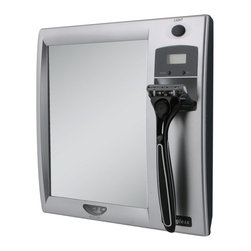 Zadro Products - Zadro Z'Fogless Fog-Free Lighted Shower Mirror with LCD Clock Multicolor - Z200 - Shop for Shower and Tub Caddies from Hayneedle.com! With the Zadro Z'Fogless Fog-Free Lighted Shower Mirror with LCD Clock you will know exactly how much time you have before you need to be out of the house and off to work. This mirror is lights with energy-efficient LEDs and paired with a digital LCD alarm clock which features a power-saving automatic shut-off. Hang a razor and you're ready to be on schedule and looking good.About Zadro ProductsZadro Products has been a leading innovator in bath accessories mirrors cosmetic accessories and health products for over 25 years. Among the company's innovations are the first fogless mirror first variable magnification mirror first surround light mirror and more. Not a company to rest on its laurels Zadro continues to adapt to the ever-changing needs of modern life.