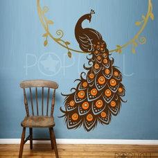 Art Wall Decal Wall Sticker Animal Decal - Bird of Paradise Peacock - 053