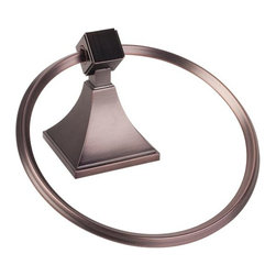 Hardware Resources - Jeffrey Alexander Viora Modern Ring Towel Holder - Dark Brushed Antique Copper - #NAME?