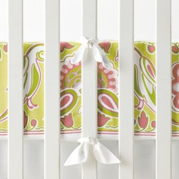 Serena & Lily - Lola Crib Bumper - This design was inspired by French and Indian motifs but the cheerful color mix is all our own. Looks lovely with pale pinks and greens.