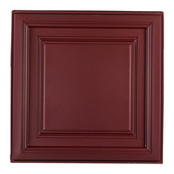 "Westminster Ceiling Tile - Merlot - Perfect for both commercial and residential applications, these tiles are made from thick .03"" vinyl plastic. Their lightweight yet durable construction make these tiles easy to install. Waterproof, these tiles are washable and won't stain due to humidity or mildew. A perfect choice for anyone wanting to add that designer touch at an amazing price."