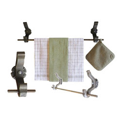 Rail Anchor towel bar - Railroad inspired products for the kitchen by Railroadware