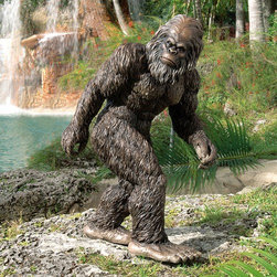 """Design Toscano - Bigfoot The Garden Yeti Statue - With alleged Bigfoot sightings all over the world, from the Himalayas to the Americas, this elusive, mythical legend has been captured for Toscano in a quality designer resin statue and hand-painted for startling realism. With his characteristically big feet, more than two-foot-tall Bigfoot, the Garden Yeti Statue will have guests doing a double-take as they admire your creative decor style! The Garden Yeti sculpture commands a unique presence in home or garden. Features: -Customers are encouraged to bring in items during severe weather conditions or to spray items periodically with clear coat protection to extend the life of the finish..-Collection: Big Foot.-Finish: Brown.-Distressed: No.-Powder Coated Finish: No.-Gloss Finish: No.-Material: Resin.-Number of Items Included: 1.-Fade Resistant: Yes.-UV Resistant: Yes.-Mildew Resistant: No.-Powered: No.-Lighted: No.-Mounting Required: No.-Product Care: Store indoors during freezing winter weather..Dimensions: -Overall Height - Top to Bottom (Size: Large): 28.5"""".-Overall Height - Top to Bottom (Size: Medium): 21"""".-Overall Width - Side to Side (Size: Large): 19.5"""".-Overall Width - Side to Side (Size: Medium): 12.5"""".-Overall Depth - Front to Back (Size: Medium): 12"""".-Overall Depth - Front to Back (Size: Large): 19"""".-Overall Product Weight (Size: Large): 12 lbs.-Overall Product Weight (Size: Medium): 9 lbs.Assembly: -Assembly Required: No.-Additional Parts Required: No."""
