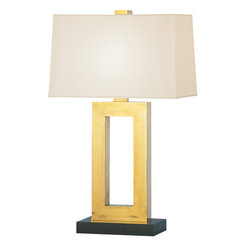 Robert Abbey - Doughnut Table Lamp, Natural Brass - -1-150W Max.