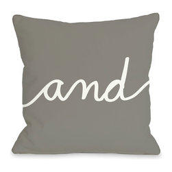 """""""And"""" Mix & Match Pillow - Let the pillows do all the talking. In this set of mix & match pillows, prop """"and"""" with other pillows to make a statement."""