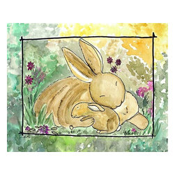 Oh How Cute Kids by Serena Bowman - Bunny Love, Ready To Hang Canvas Kid's Wall Decor, 11 X 14 - Each kid is unique in his/her own way, so why shouldn't their wall decor be as well! With our extensive selection of canvas wall art for kids, from princesses to spaceships, from cowboys to traveling girls, we'll help you find that perfect piece for your special one.  Or you can fill the entire room with our imaginative art; every canvas is part of a coordinated series, an easy way to provide a complete and unified look for any room.