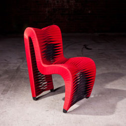 """Seat Belt Chairs - The Seatbelt Chair is getting even more notoriety since being seen in """"The Hunger Games"""", but it has been an eye-catcher since it was first released! Truly, this is functional art."""