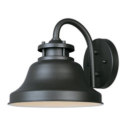 Designers Fountain - Designers Fountain Bayport Dark Sky Transitional Outdoor Wall Sconce X-ZB-12313 - This Designers Fountain outdoor wall sconce features traditional style blended with subtle touches of industrial and maritime inspired style. From the Bayport Collection, this Dark Sky Compliant light fixture features a dark toned Bronze finish that accentuates the gooseneck design and pulls the look together.