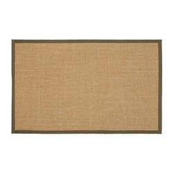 Color-Bound Sisal Rug, 5 x 8', Tobacco - Meticulously crafted by hand, our popular rug is eco-friendly, durable and perfect for high-traffic areas. Handcrafted of natural sisal by artisan rug makers. Durable fiber is ideal for high-traffic areas. Rug swatches, below, are available for $25 each. We will provide a merchandise refund for rug swatches if they're returned within 30 days. Use with our Rug Pad (sold separately). Select items are Catalog / Internet Only. Imported.
