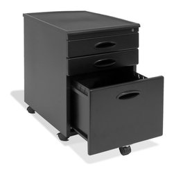 Calico Designs - File Cabinet - Black - Top 2 Drawers Inside Dimensions: 12.5 in. W x 17.25 in. D x 2.25 in. H. Bottom Drawer Inside Dimensions: 12 in. W x 15.25 in. D x 10 in. H . File Cabinet Accommodates Letter or Legal Size Files. Locks to keep your business private . 5 Casters, 1 on the file drawer for added stability . Ships fully assembled (except for casters) . Overall Dimensions: 22 in. L x 15.75 in. W x 23 in. H