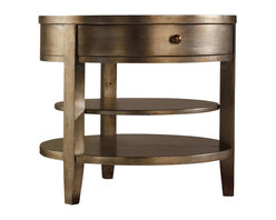 Hooker Furniture - Hooker Furniture Sanctuary One-Drawer Round Lamp Table in Visage - Hooker Furniture - End Tables - 301450003 - Through the Sanctuary Collection you can create a sanctuary in your own home a tranquil space that exudes a peaceful calm and grace almost like a weekend retreat. When you walk into your home at the end of that long day you will be delighted and your spirit will be renewed.