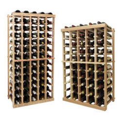 Wine Cellar Innovations - 5 Columns Individual; Vintner: Rustic Pine, Unstained, 4 Ft - Each wine bottle stored on this five column individual bottle wine rack is cradled on customized rails that are carefully manufactured with beveled ends and rounded edges to ensure wine labels will not tear when the bottles are removed. Purchase two to stack on top of each other to maximize the height of your wine storage. Moldings and platforms sold separately. Assembly required.