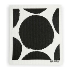 Swedish Dishcloth Bubble Design, Black - THE SWEDISH ECO-FRIENDLY DISHCLOTH: The dry sponge cloth was invented in 1949 by the Swedish engineer Curt Lindquist, who discovered that a mixture of natural cellulose (wood pulp) and cotton can absorb an incredible 15 times its own weight in water.