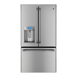 GE Cafe Series ENERGY STAR 28.6 Cu. Ft. French-Door Ice & Water Refrigerator - Features: