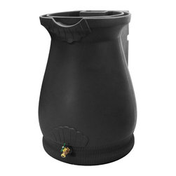 Good Ideas - Rain Wizard 65-gallon Urn - The Rain Wizard Urn is constructed with thick and durable polyethylene resin which holds up to the harshest elements. The exterior has the appearance of a terra cotta urn,with graceful lines,curves,and garnishes to create an accent piece.