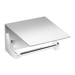 WS Bath Collections - Right Toilet Paper Holder with Cover - Contemporary design. Premium quality - avantgarde. Warranty: One year. Made from solid brass. Polished chrome color. Made in Spain. 5.5 in. W x 5.1 in. D x 3.5 in. H (3 lbs.)Kubic Class from Pom Dor Spain the very well known brand name for premium and highend bathroom furnishings. Unique and fine bath complements, and accessories of various designs and materials, that provide inspirational solutions for every decor.