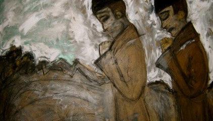 Carole Meyer Art - Two Monks