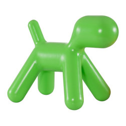 """Zuo - Zuo Pup Green Kids Chair - The Pup Collection has an adorable seat that has been designed to look like a young dog. Everything from head to tail is included in this green kid's chair. Constructed with children's play in mind it's made of durable scratch-free polypropylene. Scratch-free polypropylene construction. Green finish. Whimsical puppy dog design. No assembly required. 27"""" high. 16"""" wide. 25"""" deep.  Scratch-free polypropylene construction.  Green finish.  Whimsical puppy dog design.  No assembly required.  27"""" high.  16"""" wide.  25"""" deep."""