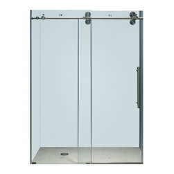 Vigo - Vigo 72-inch Frameless Shower door 3/8in.  Clear Glass Stainless Steel Hardware - This Vigo clear shower adds a touch of elegance and luxury to any bathroom.