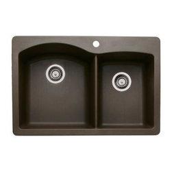 Blanco - Blanco Diamond 1-3/4 Bowl Kitchen Sink, Cafe Brown (511-609) (440213) - Blanco 440213 Diamond 1-3/4 Bowl Kitchen Sink, Cafe Brown (511-609)