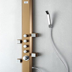 Fresca - Fresca Prato Bronze Thermostatic Shower Massage Panel - Bring therapeutic massage to your home shower with this Fresca Prato bronze-finished stainless steel massage panel. The four jets and additional hand shower included in this massage panel brings ultimate relaxation to your home.