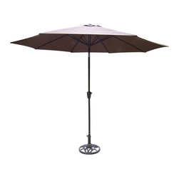 Oakland Living - Oakland Living 9 Ft Umbrella with Crank and Tilt in Brown - Oakland Living - Patio Umbrellas - 4005BN - About This Product: